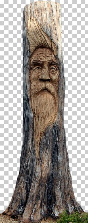Tree Stump Wood Carving Chainsaw Carving PNG