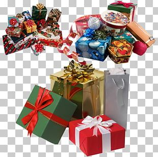 Gift Box New Year Christmas PNG
