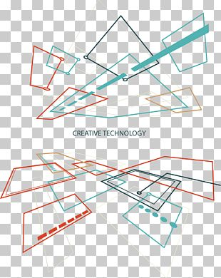 Geometric Lines Technology Background PNG