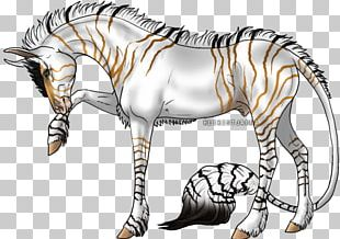 Mane Quagga Mustang Zebra Pack Animal PNG