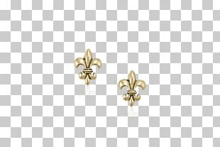Earring Fleur-de-lis Jewellery Gold Charms & Pendants PNG