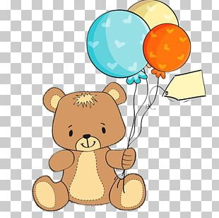 Teddy Bear Wedding Invitation Baby Shower Greeting Card PNG