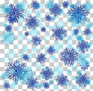 Blue Snowflake Background PNG