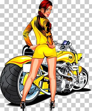 Motorcycle Scooter Cartoon Chopper PNG