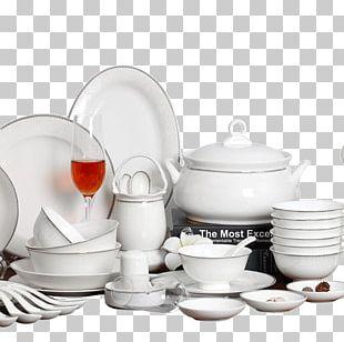 Porcelain Ceramic Bowl Tableware Jingdezhen PNG