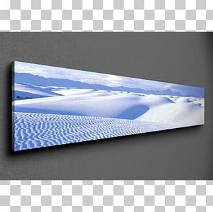 White Sands National Monument Cobalt Blue Brand Rectangle PNG