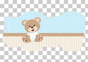 Teddy Bear Baby Shower Party Blue PNG