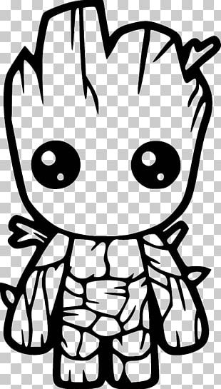 Baby Groot Decal Bumper Sticker PNG