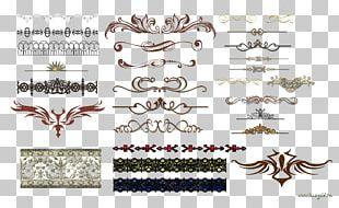 Text Ornament Vignette Font PNG