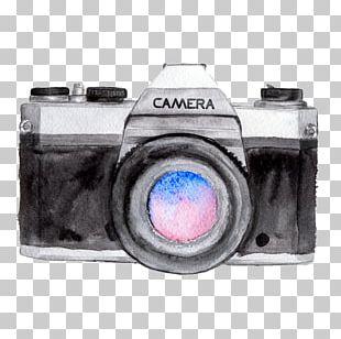 Watercolor Painting Camera Logo Drawing Photography PNG
