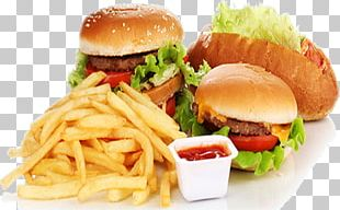 Fast Food Junk Food Hamburger French Fries Fried Chicken PNG