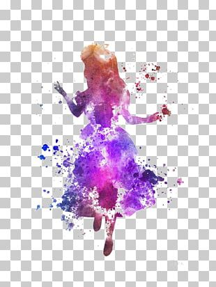 Alices Adventures In Wonderland White Rabbit Cheshire Cat Watercolor Painting PNG