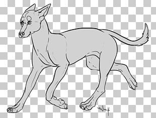Dog Breed Macropodidae Line Art Paw PNG