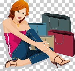 Girl Shopping Woman PNG