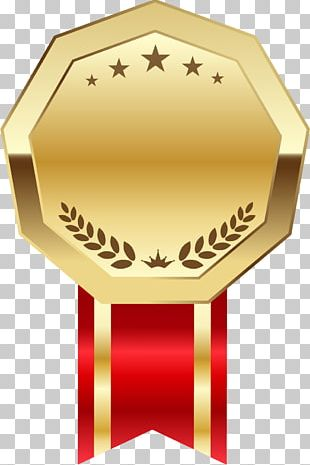 Ribbon Label Gold Coin PNG