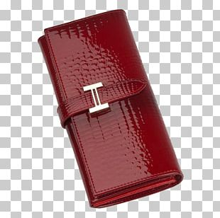 Wallet Red Handbag Patent Leather PNG