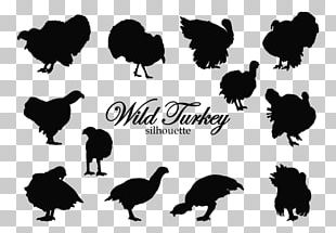 Black Turkey Silhouette Rooster PNG