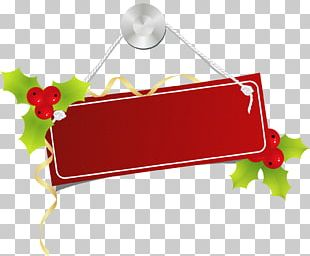 Christmas Information Label PNG