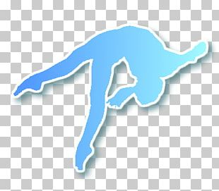 Gymnastics Tumbling Blue PNG