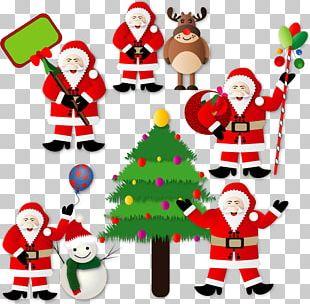 Christmas Tree Santa Claus Christmas Decoration PNG