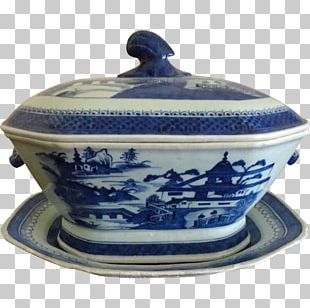 Tureen Blue And White Pottery Ceramic Cobalt Blue PNG