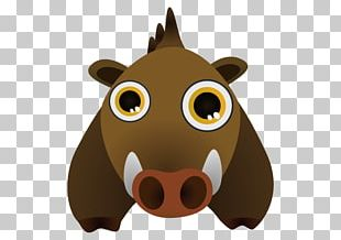 Wild Boar Cartoon Drawing PNG