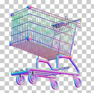 Vaporwave T-shirt Bag Shopping Cart PNG