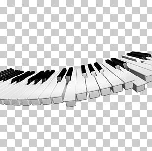 Digital Piano Musical Keyboard Black And White Musical Instrument PNG