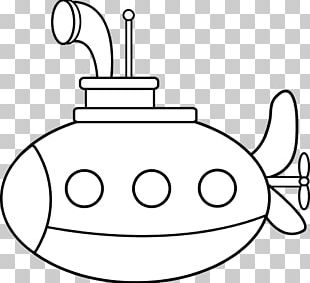 Coloring Book Submarine Drawing PNG