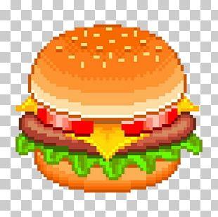 Hamburger Cheeseburger Fast Food Pixel Art PNG