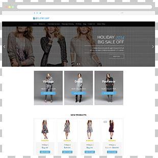 WordPress Responsive Web Design Template E-commerce Online Shopping PNG