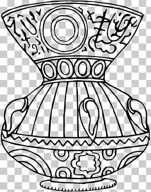 Vase Line Art Drawing PNG