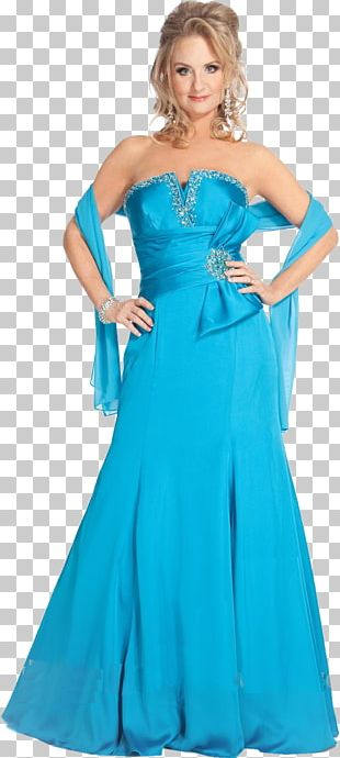Evening Gown Blue Cocktail Dress PNG