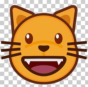 Cat Emoji Kitten Smile PNG