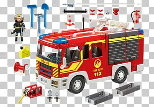 Fire Engine Playmobil Fire Department Fire Station Siren PNG