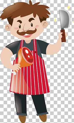 Chef Meat Illustration PNG