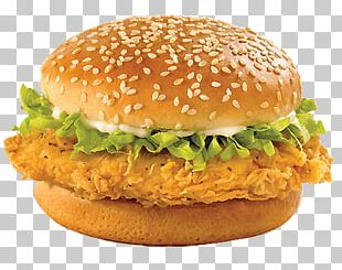 Classic Chicken Burger PNG