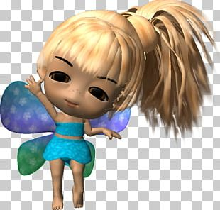 Fairy Human Hair Color Cartoon Figurine PNG
