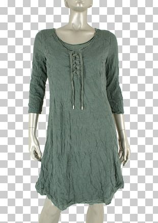 Sleeve Blouse Dress Neck Turquoise PNG