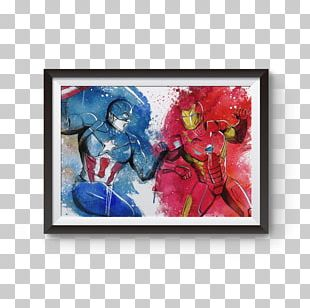 Iron Man Captain America Thor Art Watercolor Painting PNG