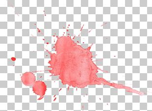Watercolor Painting Red Blood PNG