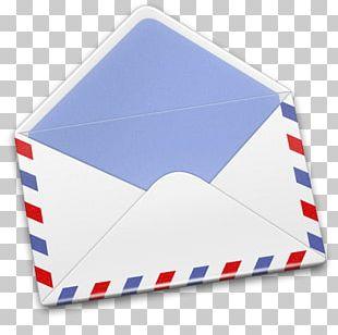 Blue Brand Material Envelope PNG