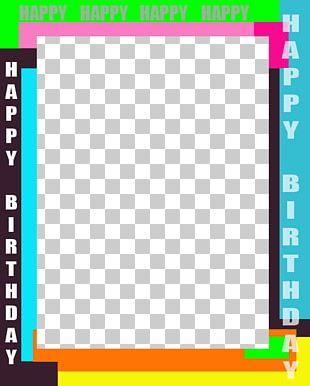Happy Birthday Frames Magazine PNG