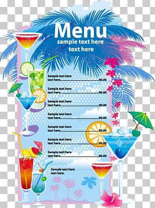 Cocktail Juice Blue Lagoon Menu Drink PNG
