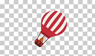 Hot Air Balloon Red PNG