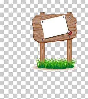 Signage Wood Billboard Illustration PNG