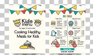 Menu Kids Meal Fast Food Breakfast PNG