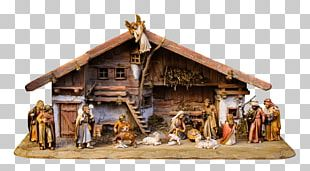 Christmas Nativity Scene Angel On Roof PNG