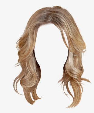 Western Style Long Hair Wig Free To Pull The Material PNG