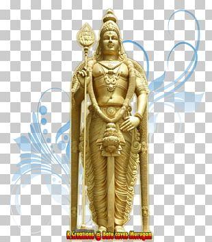 Batu Caves Wood Carving Kartikeya Statue PNG